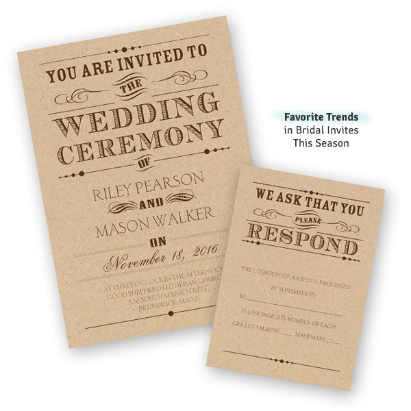 Trending Wedding Invitations: Ann's Bridal Bargains: Budget Friendly Invites, Wedding