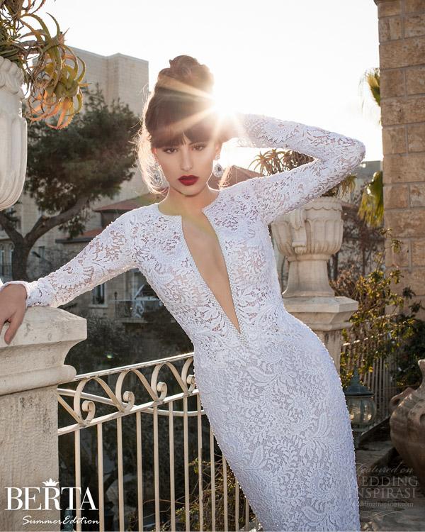 Unique Long Sleeve Wedding Dresses 68 Marvelous berta wedding dress long