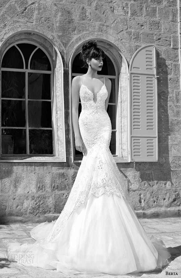 berta bridal edition 2014 mermaid wedding dress straps
