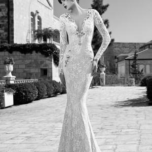 berta bridal summer edition 2014 long sleeve wedding dress full view