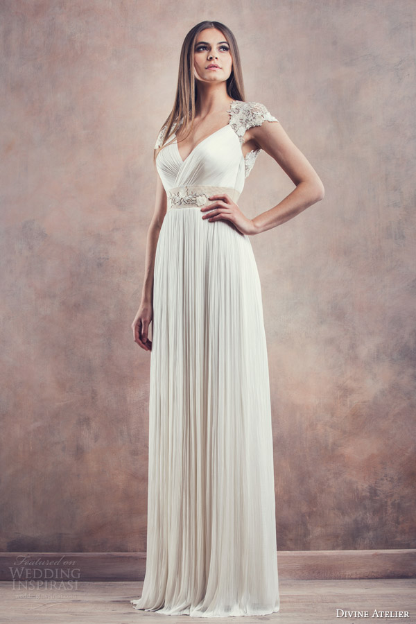 divine atelier 2014 helena cap sleeve wedding dress