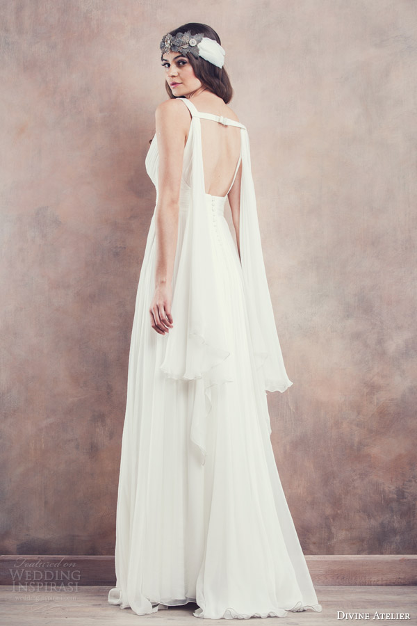 divine atelier 2014 sleeveless wedding dress ines open back draped