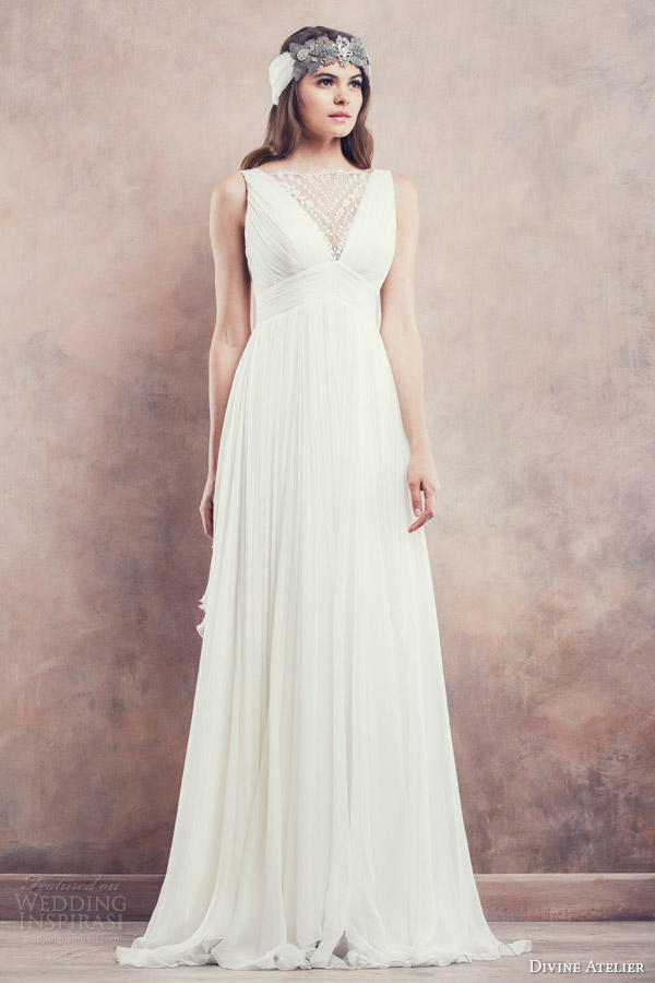 divine atelier 2014 sleeveless wedding dress ines