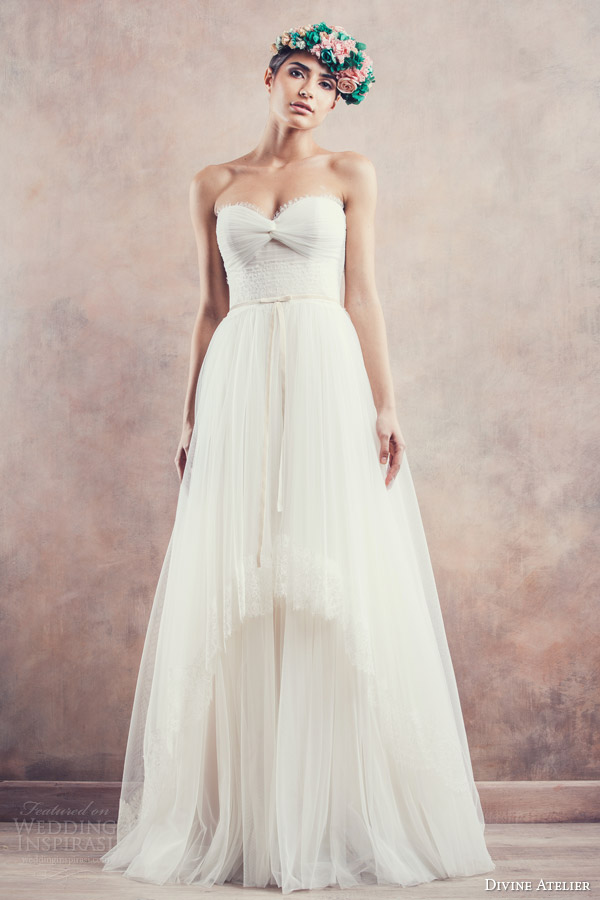 divine atelier bridal 2014 alena strapless wedding dress