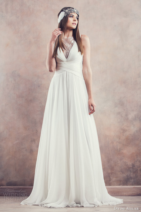 divine atelier wedding dresses 2014 ofelia sleeveless gown