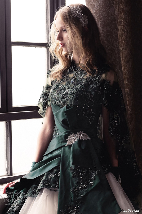 jill stuart 2014 wedding dress 11th collection 0165 green