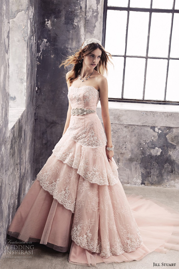jill stuart 2014 wedding dress 11th collection 0171 pink