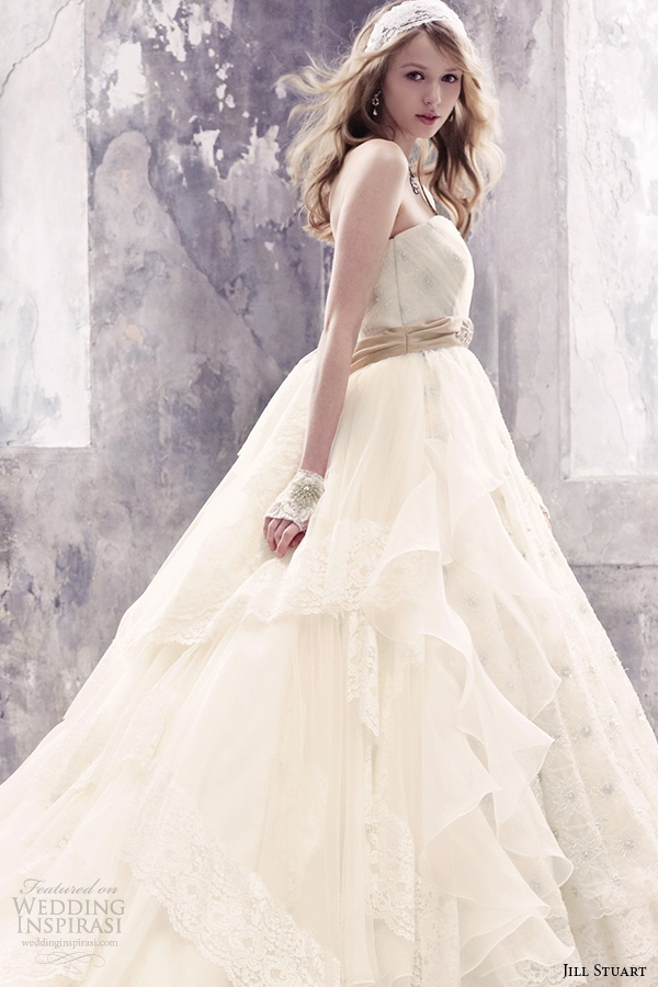 jill stuart 2014 wedding dress 11th collection 0174 off white