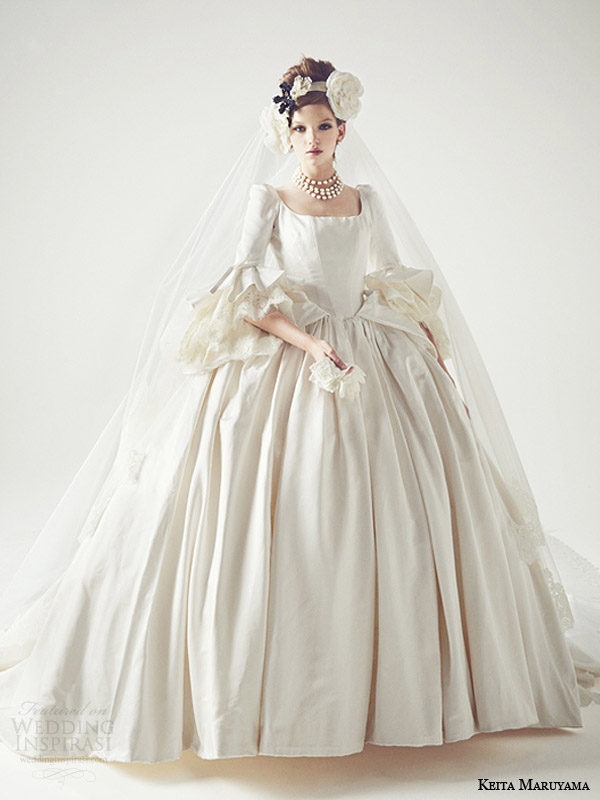 keita maruyama japan 2014 ball gown long sleeve wedding dress