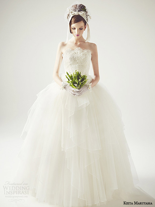 keita maruyama japan 2014 strapless ball gown wedding dress