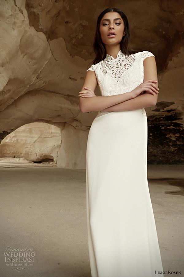 limor rosen 2014 cap sleeve wedding dress karen