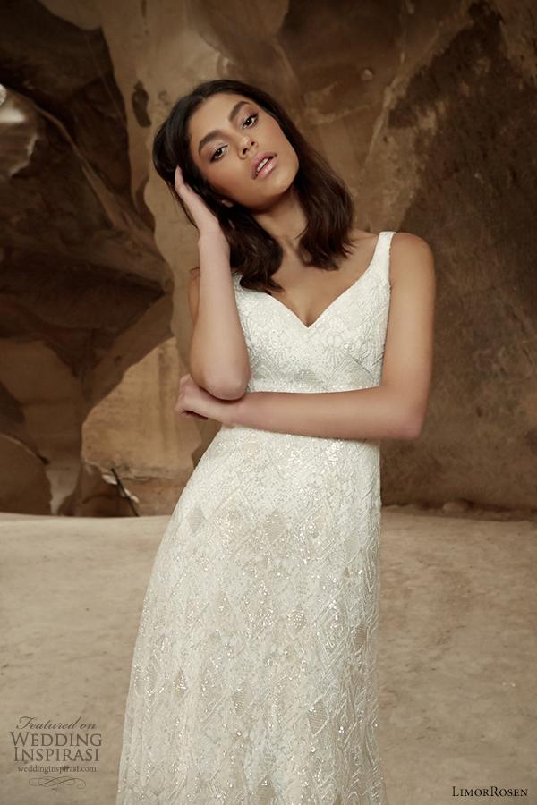 limorrosen 2014 sleeveless wedding dress straps shira