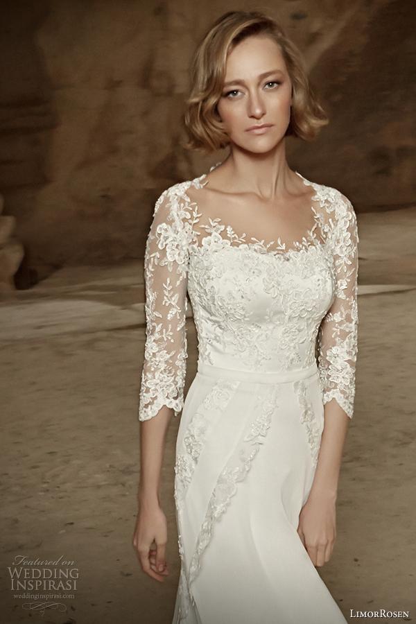limorrosen 2014 wedding dress sleeves liza