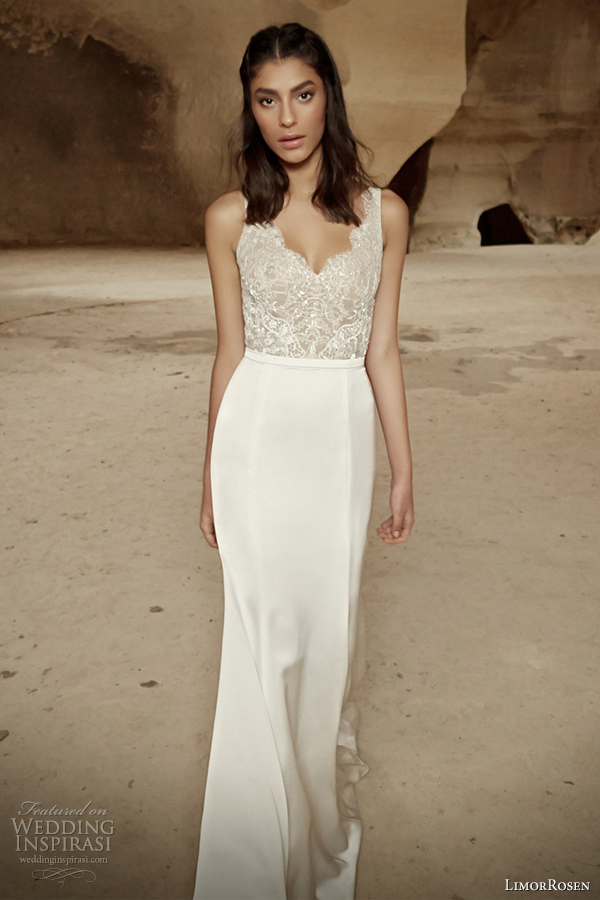 limorrosen bridal 2014 sleeveless wedding dress ariel