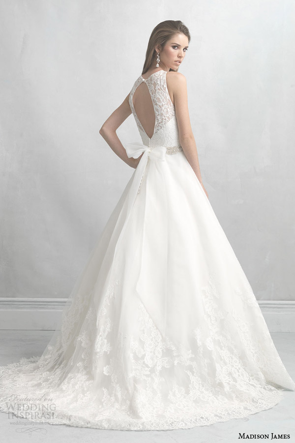 madison james allure bridals fall 2014 wedding dress style mj04 keyhole back