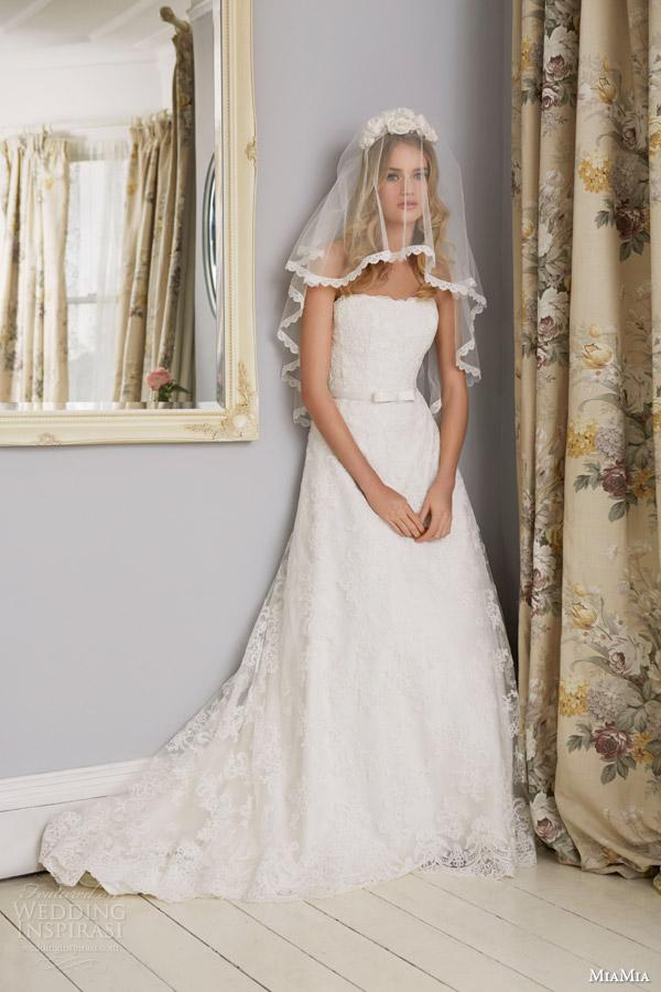 Miamia Bridal 2017 Rhapsody Blanche Strapless Wedding Dress