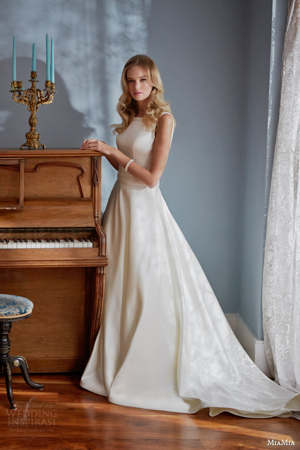 miamia bridal 2014 sleeveless wedding dress estelle
