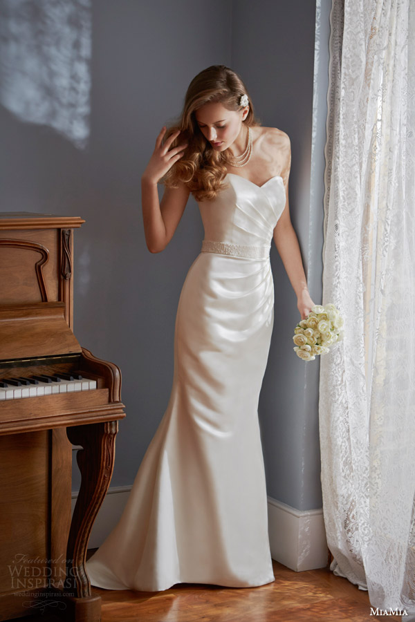 miamia bridal 2014 strapless wedding dress legato