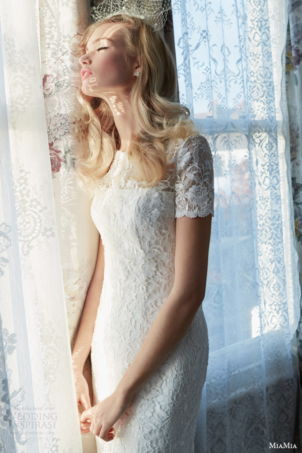 miamia bridal rhapsody 2014 carrie wedding dress with short sleeves