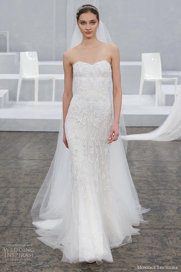 monique lhuillier bridal spring 2015 sheath wedding dress charmain
