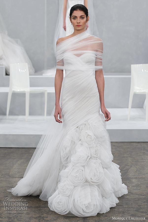 monique lhuillier bridal spring 2015 wedding dress escape