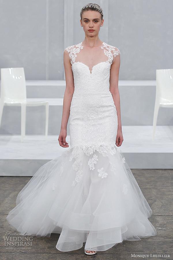 monique lhuillier bridal spring 2015 wedding dress illusion cap sleeves logan