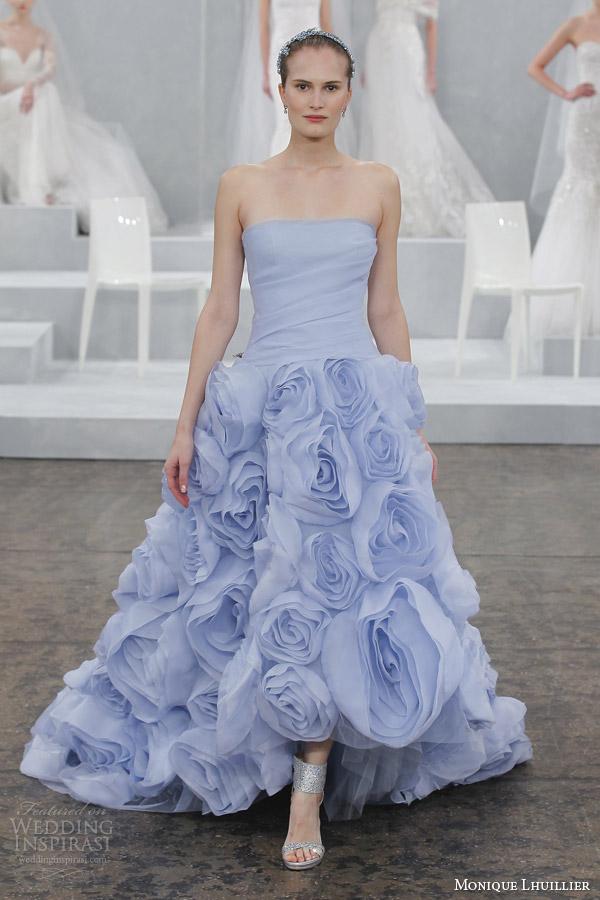 monique lhuillier spring 2015 bridal floressa color wedding dress