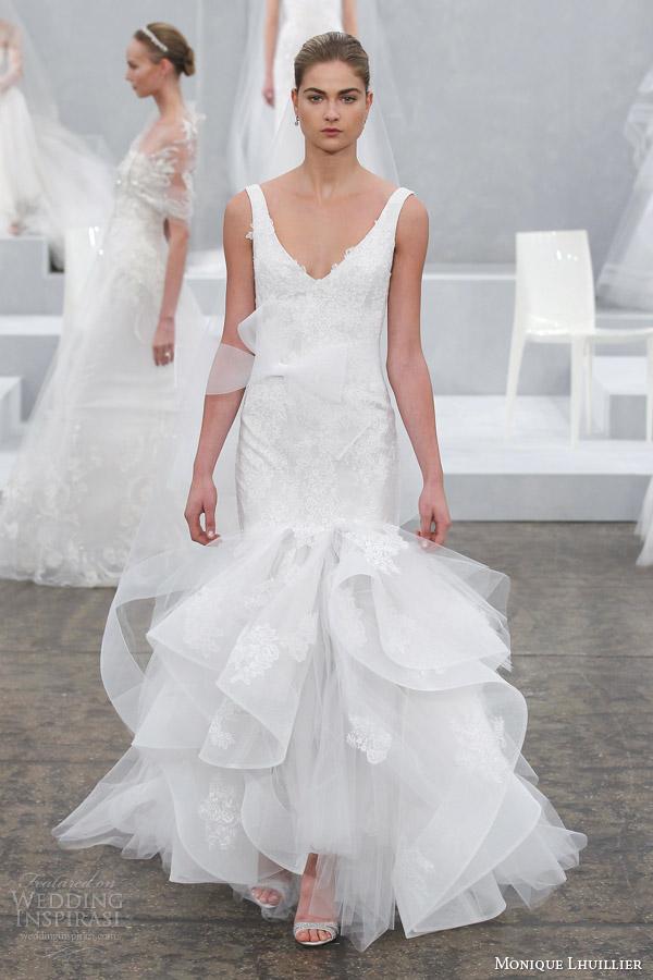 monique lhuillier wedding dress spring 2015 teagan sleeveless wedding dress straps