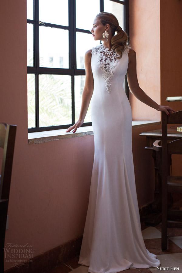 Nurit galinha 2014 vestido de noiva incrível vista frontal beading