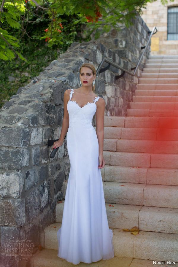 Nurit galinha 2014 vestido de noiva tiras de renda