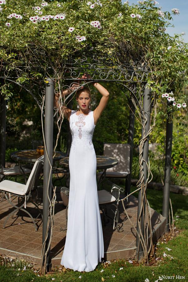 Nurit galinha de noiva 2014 vestido 2015 de casamento sem mangas ilusão