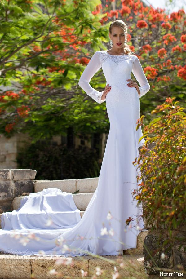 Nurit Hen Bridal Spring Summer 2017 Long Sleeve Wedding Dress