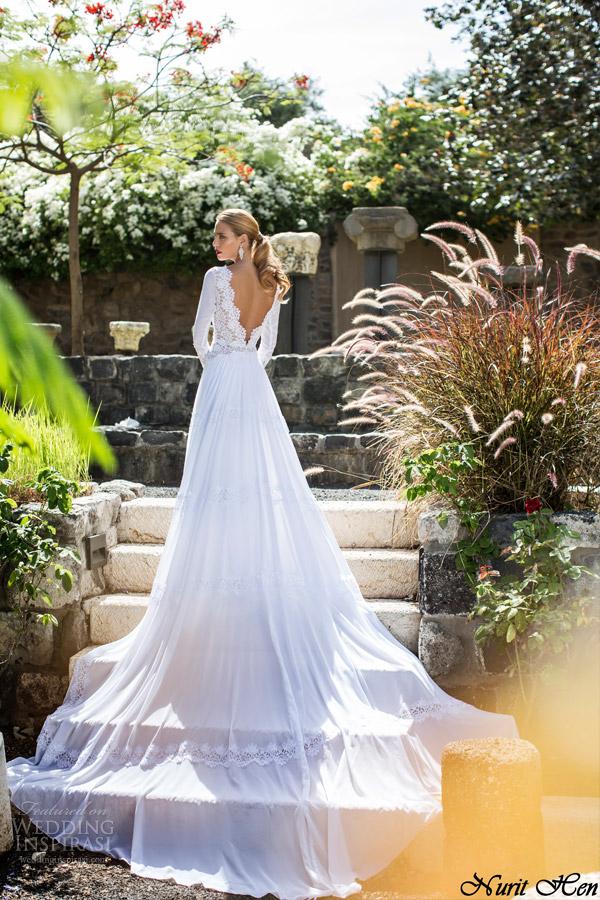 Long Train Wedding Dresses 41 Fancy nurit hen bridal summer