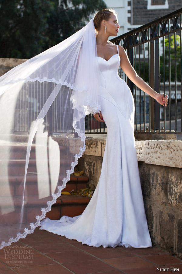 corpete nurit galinha verão 2014 2015 vestido de casamento com cintas com painéis