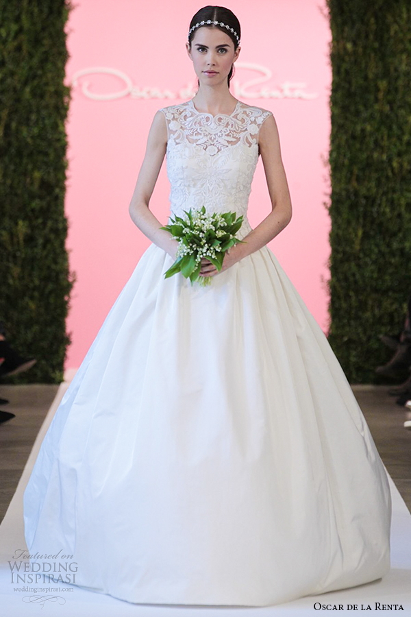 oscar de la renta bridal 2015 ivory radzimir ball gown wedding dress campbell