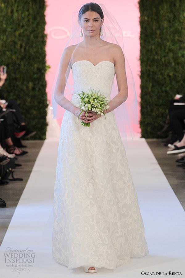 oscar de la renta bridal 2015 ivory silk organza a line wedding dress cameron