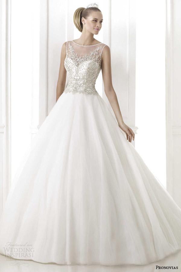 pronovias 2015 pre bohemio sleeveless ball gown wedding dress embroidered bodice