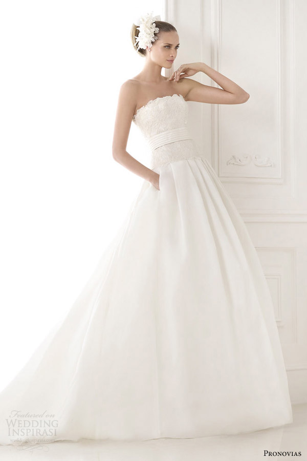 pronovias atelier 2015 pre kaethe strapless wedding dress pockets