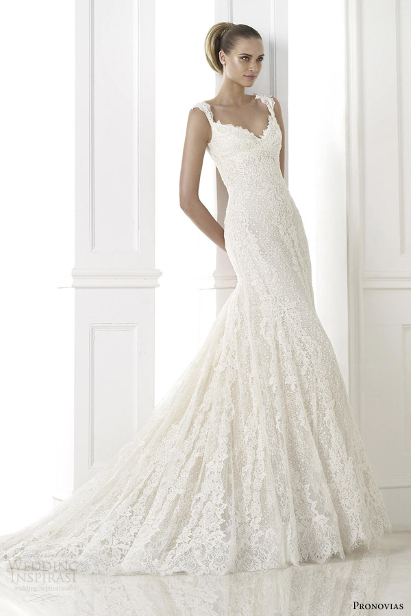 pronovias atelier bridal 2015 kala guipure lace wedding dress straps