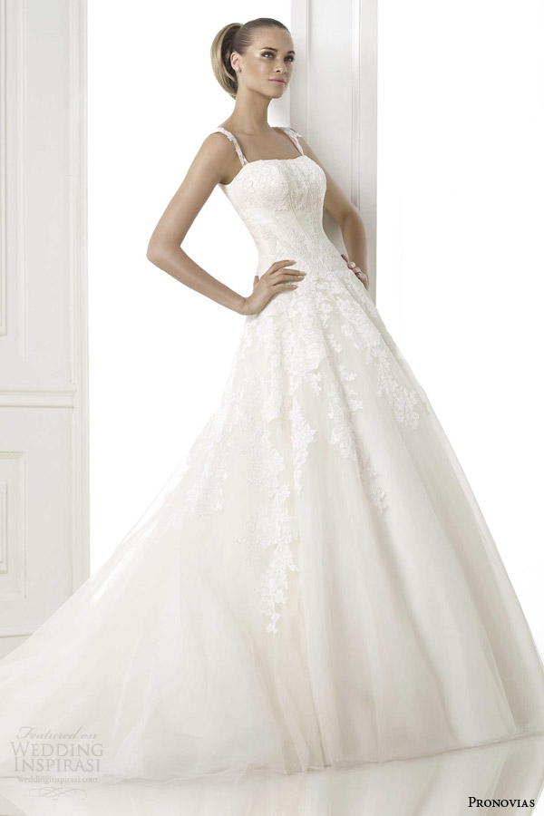 pronovias pre collection 2015 bilma wedding dress straps