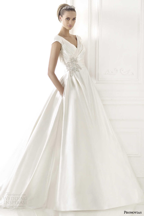 taffeta wedding dress with pockets