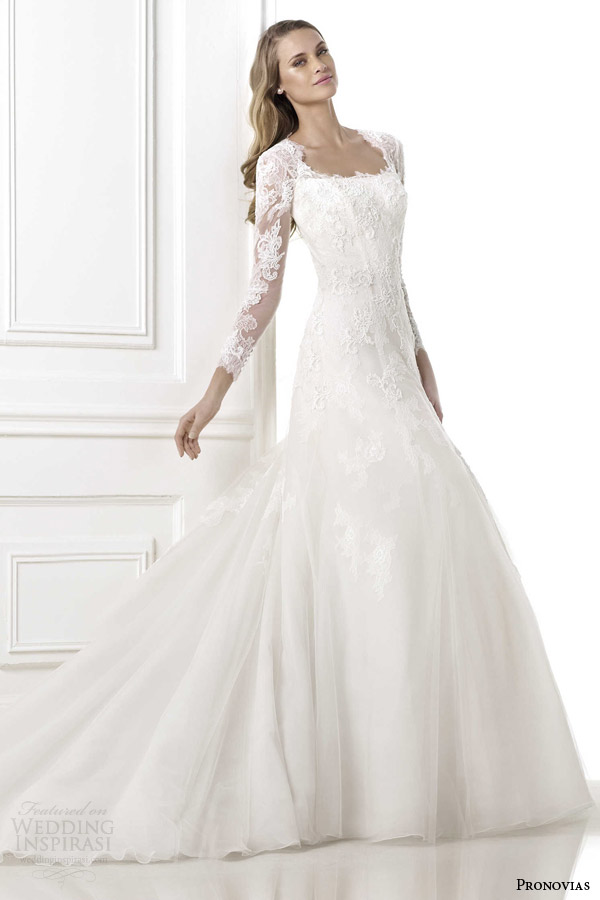 pronovias wedding dresses 2015 pre beverly long sleeve gown