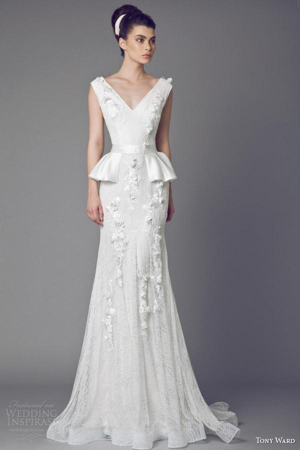 Tony ward bridal 2015 wedding dresses wedding inspirasi tony ward 2015 belladonna peplum wedding dress junglespirit Choice Image