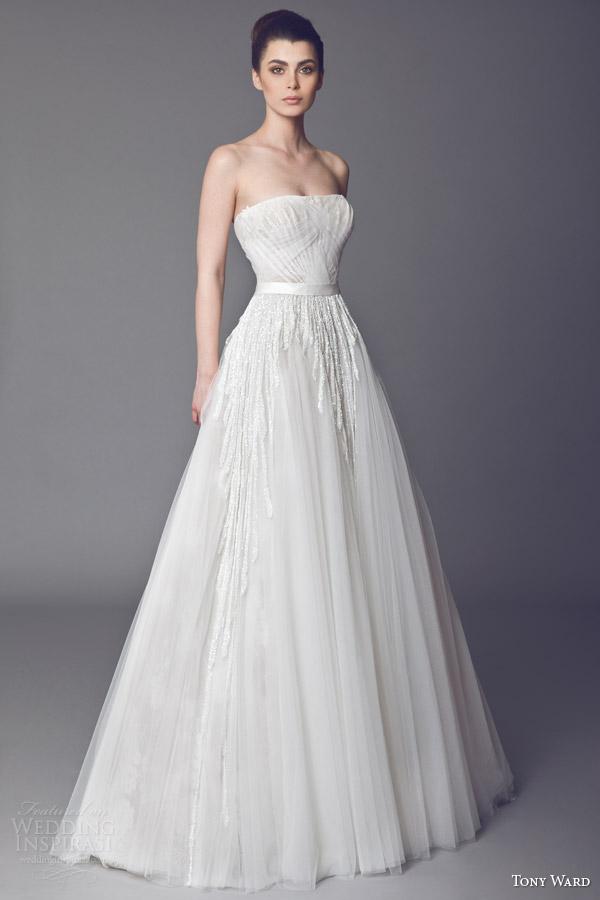 tony ward bridal 2015 azalea strapless wedding dress