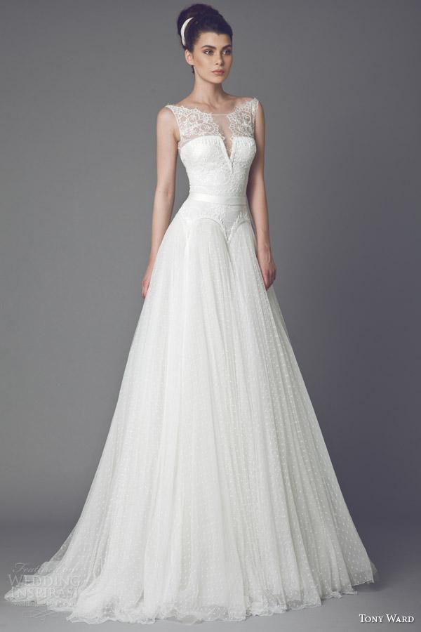 tony ward bridal 2015 bleuetta sleeveless wedding dress