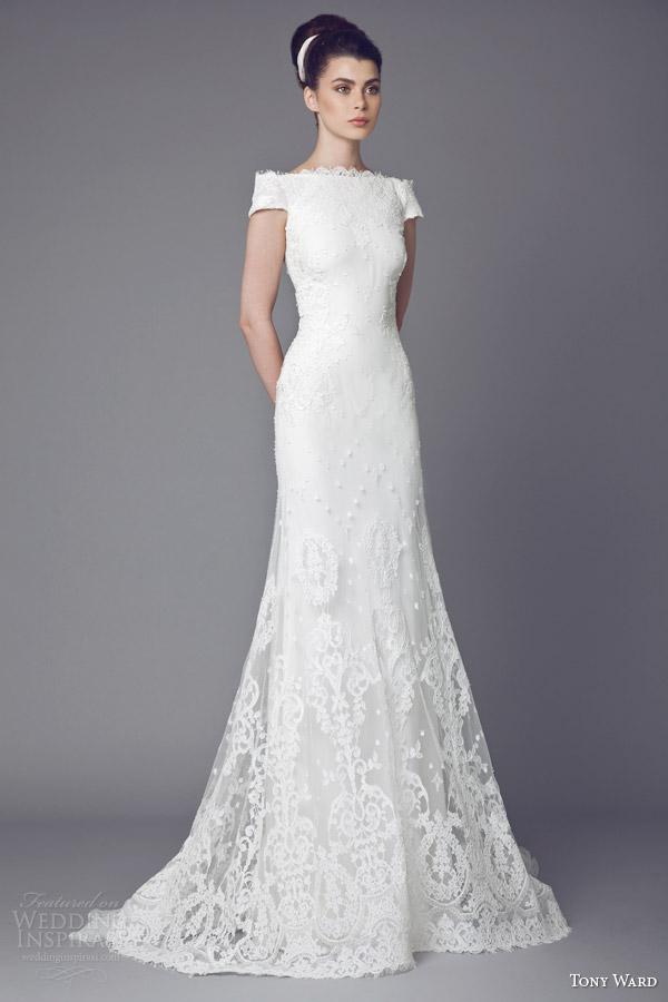 tony ward bridal 2015 edelweiss short sleeve wedding dress