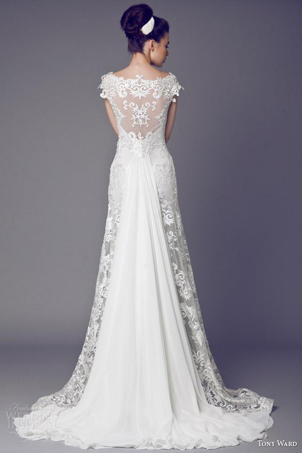 tony ward bridal 2015 narcisse des poetes cap sleeve wedding dress illusion back