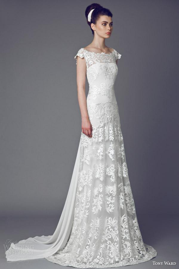 tony ward bridal 2015 narcisse des poetes cap sleeve wedding dress