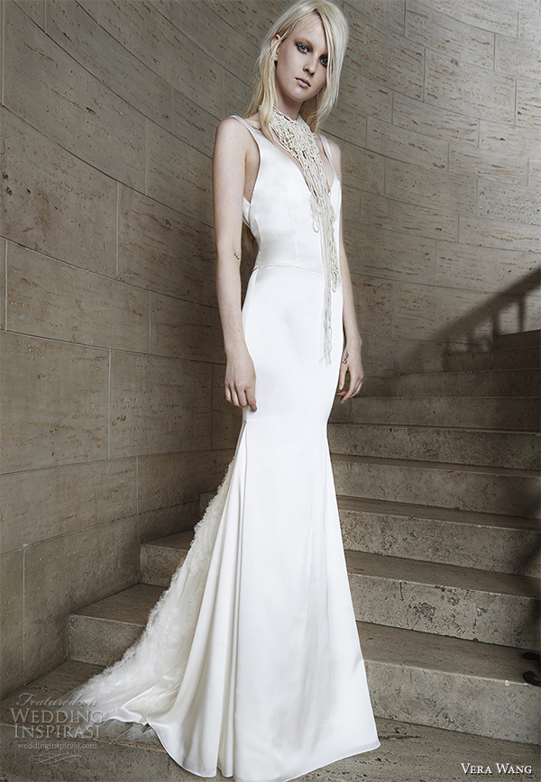 vera wang spring 2015 bridal collection wedding dress 1 front view