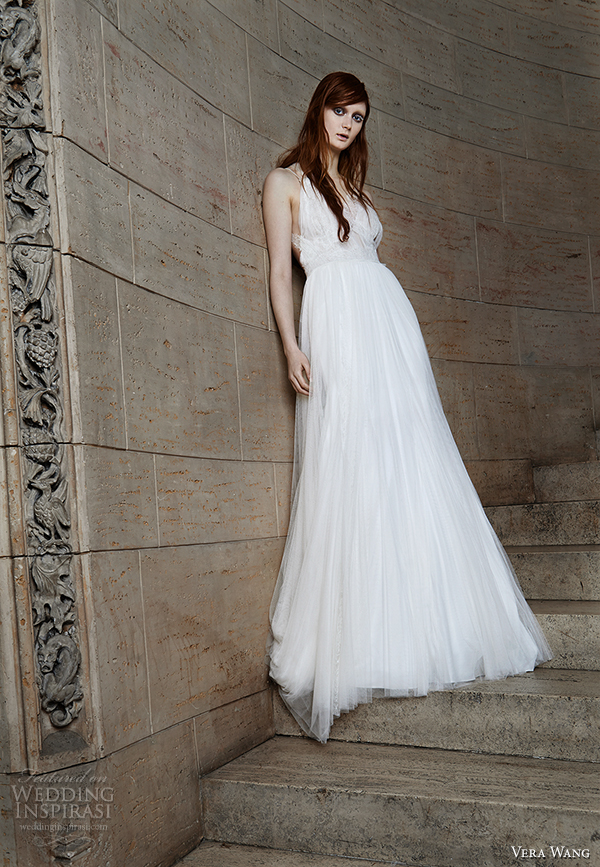 vera wang spring 2015 bridal collection wedding dress 10 front view